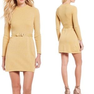 Free people French girl gold dress